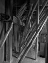 © Inv. R. Choplain et R. Maston - Vue générale de la tuyauterie du système de mouture pneumatique.