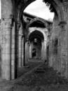 © Roger Choplain, Roland Maston, Région Auvergne - Inventaire général du Patrimoine culturel, ADAGP - Vue générale des vestiges du bas-côté nord (de l'est).