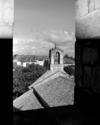© Roger Choplain, Roland Maston, Région Auvergne - Inventaire général du Patrimoine culturel, ADAGP - Vue sur le village, aspect Ouest, prise du clocher.