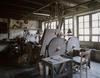 © Jean-Michel Périn, Roland Maston, Région Auvergne - Inventaire général du Patrimoine culturel, ADAGP - La Monnerie-Le Montel, coutellerie, moulin rouet de Boulary, atelier de polissage de lames.