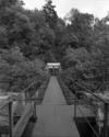© P. Hervouet, Région Auvergne - Inventaire général du Patrimoine culturel, ADAGP - Pont-Salomon, centrale électrique. Passerelle métallique sur l'aqueduc.