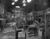 © Ph. Inv. P. Hervouet, Région Auvergne - Inventaire général du Patrimoine culturel, ADAGP - Pont-Salomon, papeterie, usine Taillanderie. Atelier de platinage, vue d'ensemble.