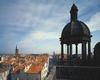 © Jean-Michel Périn, Région Auvergne - Inventaire général du Patrimoine culturel, ADAGP - Vue depuis la tour sud de l'église Notre-Dame du Marthuret vers le nord