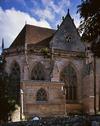 """© Jean-Michel Périn, Roland Maston, Région Auvergne - Inventaire général du Patrimoine culturel, ADAGP - La """"Chapelle neuve"""" à l'emplacement du bras du nord du petit transept."""
